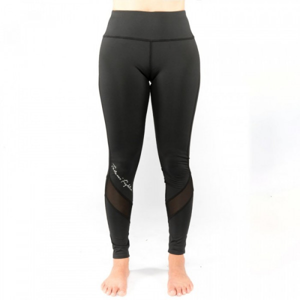 Grappling Tights - Tatami Spats - Ladies Black Script Spats