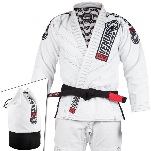 BJJ Gi - Venum Elite Light 2.0 BJJ-puku - (Bag Included) - Valkoinen