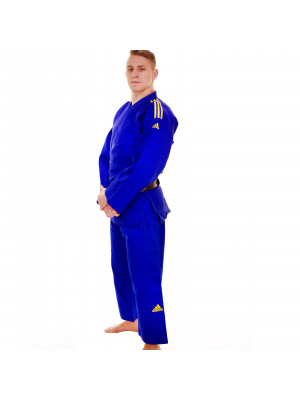 Adidas judo gi - Champion 2.0 - IJF Red Label - Sininen / Keltainen - Slim Fit