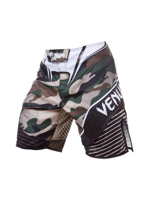 MMA-Shortsit - Venum - 'Camo Hero Fight' - Camo/Ruskea