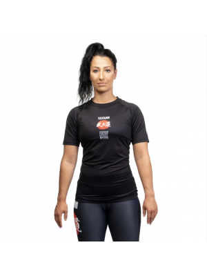 Rash Guard - Tatami fightwear - 'Bushido, ladies' - Musta - Lyhythihainen