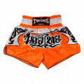 "Muay Thai shorts - Twins - ""TTBL 75 Fancy"" - Orange"